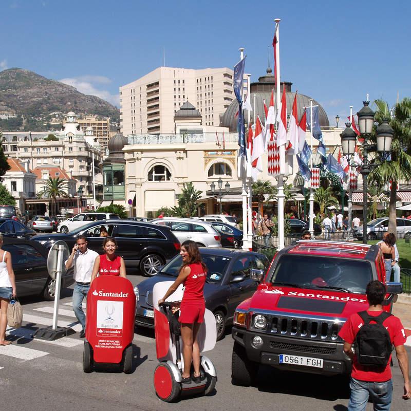 Banco Santander Monaco publicidad