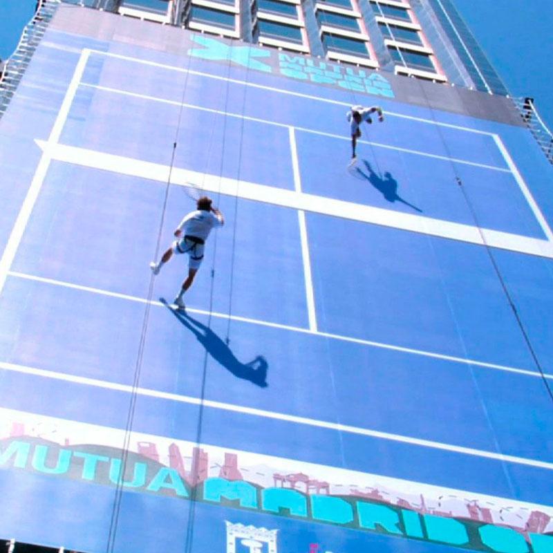 tenis en edificio Mutua Madrileña